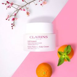 [Clarins] Our little secret to guilt free Chinese New Year feasting. Body Shaping Cream helps to reduce stubborn fats on the