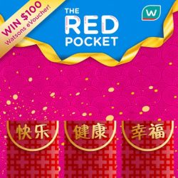 [Watsons Singapore] Chinese New Year is around the corner and aren't you eager to receive tons of red packets? Here's