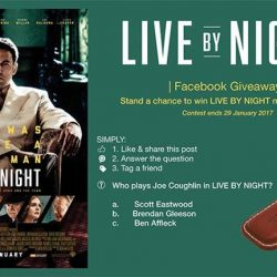 [Filmgarde Cineplex] Stand a chance to win LIVE BY NIGHT movie premiums!How To Participate 1. Like & share this post 2. Answer