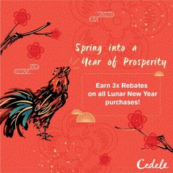 [Cedele] Be rewarded when you eat well! From now until 12 Feb 2017, Cedele Members enjoy 3x rebates for any Lunar