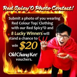 [Curry Times. Old Chang Kee] Red Spicy'O Photo Contest!Submit a photo of you wearing Red Colour Top/ Clothing with our Red Spicy'O