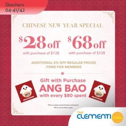 [The Clementi Mall] Step into this Chinese New Year with new kicks and get ready for a new start! From now till 5