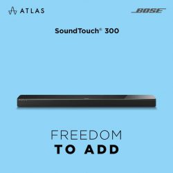 [BOSE] Savour clear and spacious sound with SoundTouch® 300, Bose®'s best performing one piece soundbar. Slim but packed with technologies,