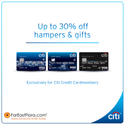 [Citibank ATM] Celebrate Spring's abundance with FarEastFloral.com this Lunar New Year! Citi Credit Cardmembers get up to 30% off on