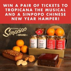 [SISTIC Singapore] We are giving away a pair of best seats to catch local theatre's top talents in Tropicana the Musical