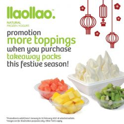 [llaollao Singapore] Rejoice, people! Celebrate with your beloved family and friends with llaollao's home pack and enjoy additional free toppings when