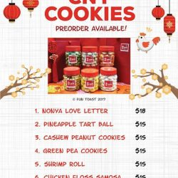 "[Fun Toast] Hi all,  we are excited to let you know that our festive CNY cookies, including all-time favourites ""melts in"