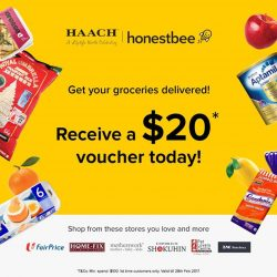 [HAACH] Enjoy a complimentary $20* voucher from honestbee when you confirm an appointment with any of our 5 HAACH outlets today!