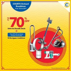 [Courts] 2 DAYS LEFT to enjoy up to 70% discount on the latest Dyson Home Appliances at COURTS Orchard!Also, enjoy