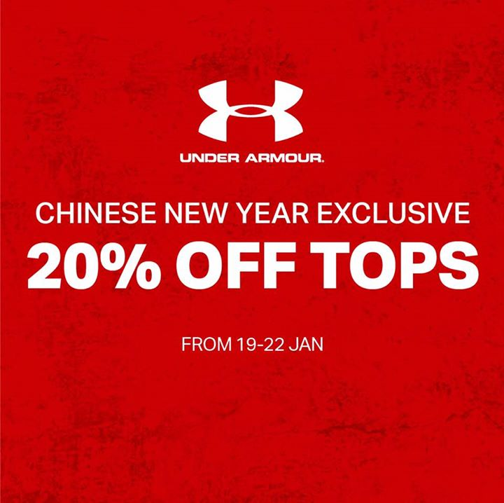 Under Armour Singapore: 4-Day Online Exclusive Sale with 20