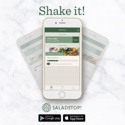[Salad Stop] Shake it and keep it hassle free! Shake your phone to write in to us with your feedback or your