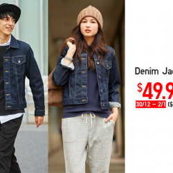 [Uniqlo Singapore] Enjoy this New Year's Day Limited Offer on Denim Jackets for men and women. The distressed texture gives these