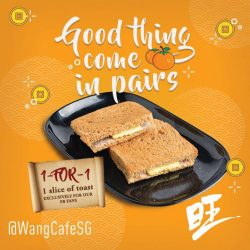 [Heavenly Wang] WANG-WEDNESDAY! Grab your 1-for-1 toast today! Remember to like our FB page and jio a Friend! See