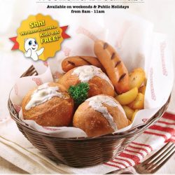 [Marina Square] Rise and Shine with Swensen's Weekend Breakfast! Kids eat free too! Available on weekends and public holidays from 8 -