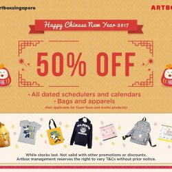 [Artbox Singapore] To usher in the Chinese New Year, we have 50%* off for bags, apparels, calendars and dated schedulers.**Terms and