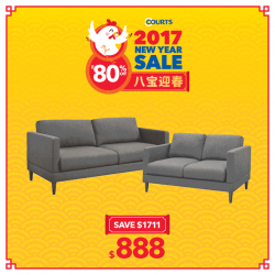 [Courts] Gong Xi Gong Xi! 🍊As Chinese New Year approaches, revel in an additional $88 OFF when you purchase ONLINE!Fresh