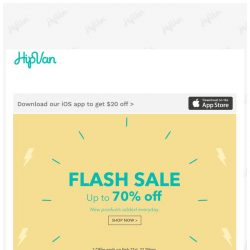 [HipVan] FLASH SALE⚡ Up to 70% Off!