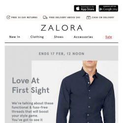 [Zalora] 💘 Love at first sight: Extra 18% off your first order!