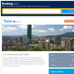 [Booking.com] Taipei and Bangkok – great last-minute deals from S$ 10