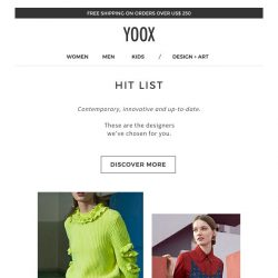 [Yoox] Hit List: 6 brands chosen for you