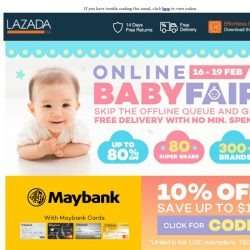 [Lazada] Largest Online Baby Fair is NOW on LAZADA!
