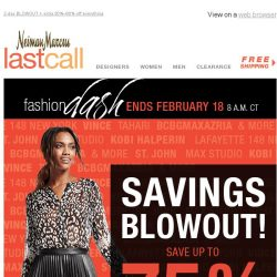 [Last Call] Blowing the lid off >> up to 75% off Vince, Lafayette, St. John, & more