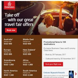 [Emirates] Don't miss these great travel fair offers, from SGD 569