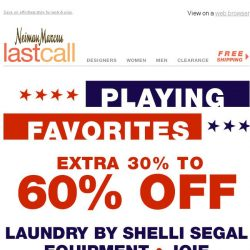 [Last Call] Playing favorites: extra 30%–60% off Vince, Equipment, Joie, & MORE