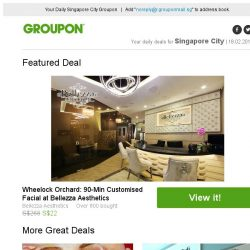 [Groupon] Wheelock Orchard: 90-Min Customised Facial at Bellezza Aesthetics / 2 Adult Tickets to Alive Museum Singapore