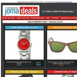 [Jomashop] Perrelet Moonphase Watch 65% off | DKNY Ladies Watch $35 | Perrelet Auto Men's $995 | Ray-Ban Sunglasses $79 | New Event: Omega & Fossil