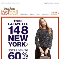 [Last Call] Spring for Lafayette | extra 30%–60% + 10% off