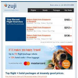 [Zuji] 3D2N Bangkok packages under $250 (and more) for you BQ.sg!