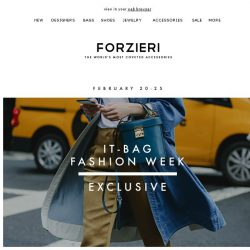 [Forzieri] Exclusive | Bag Fashion Week [5 days only]