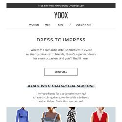 [Yoox] Dress to impress: find the perfect dress for you