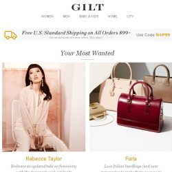 [Gilt] Rebecca Taylor, Furla, The Shoe Shop by Size and More Start Today at Noon ET