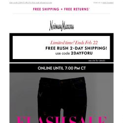 [Neiman Marcus] Flash Sale! Up to 75% off + Free 2-day shipping to get it faster!