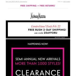[Neiman Marcus] Up to 70% off+ Free 2-day shipping: Over 1,000 new sale arrivals!