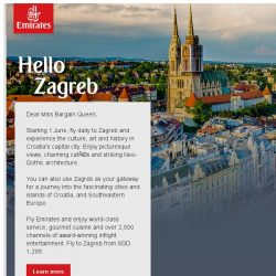 [Emirates] Say hello to Zagreb, starting from 1 June