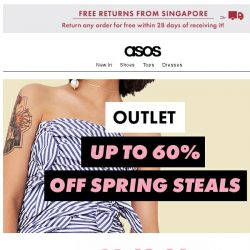 [ASOS] Up to 60% off spring steals