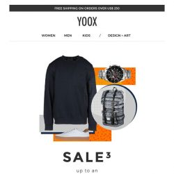 [Yoox] Sale³ up to an EXTRA 70% off even more items