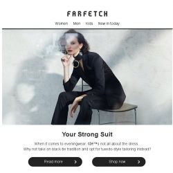 [Farfetch] There's more to eveningwear than just dresses....