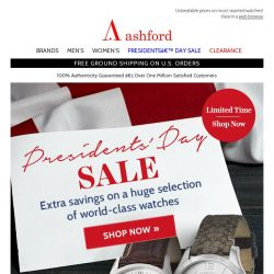 [Ashford] BEST OF SALE | More Presidents' Day Faves
