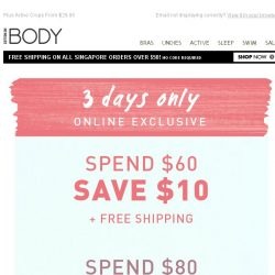 [Cotton On] Spend & Save! 3 Days Only.