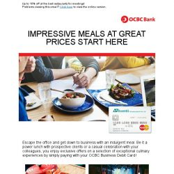 [OCBC]  OCBC Business Debit Card – Enjoy gastronomic dining deals today!