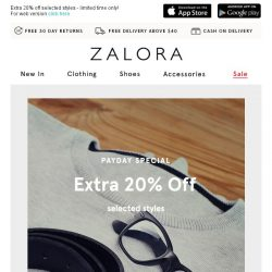 [Zalora] 🎉 Let's get the Payday Party started!