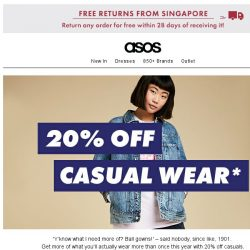 [ASOS] 20% off casuals (Stan Smiths included!)