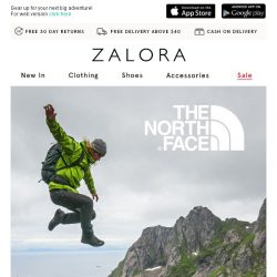 [Zalora] Get excited: The North Face is now on ZALORA!