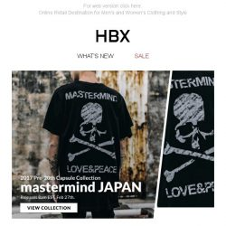 [HBX] New Arrivals: mastermind JAPAN, C2H4 Los Angeles and HUF