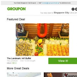 [Groupon] The Landmark: Int'l Buffet / 5 Outlets: 90-Min Stem Cell Facial