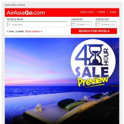 [AirAsiaGo] 🕗 Your lucky day - you are invited for 48 HOURS SALE PREVIEW 🕗